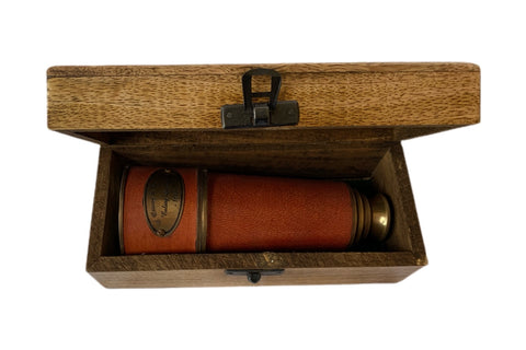 Maroon Telescope with box