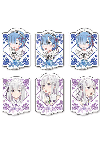 RE:ZERO - REM & EMILIA DIE-CUT STICKER SET