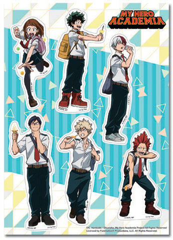 MY HERO ACADEMIA - GROUP ICE CREAM STICKER SET