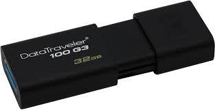 Clé USB 3.0 Kingston Datatraveler 100 G3 32Gb - KindInformatique.com Inc.