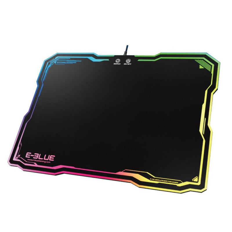 Tapis de souris Gaming E-Blue Auroza RGB - Large - KindInformatique.com Inc.