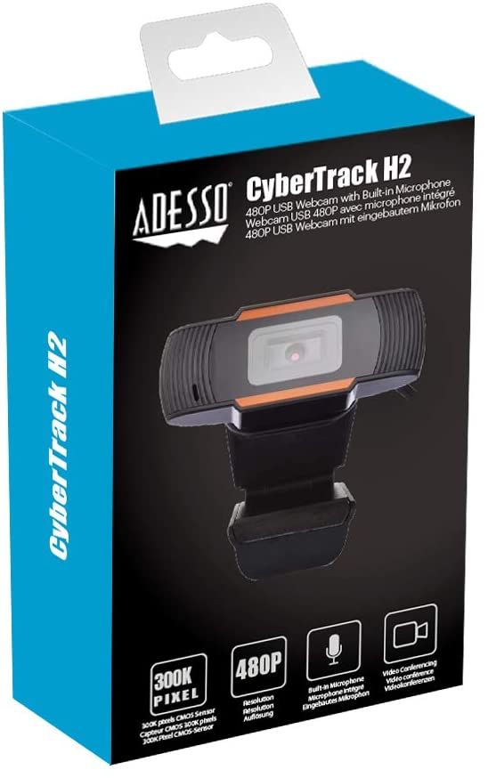 Webcam Adesso CyberTrack H2 480p avec microphone - USB