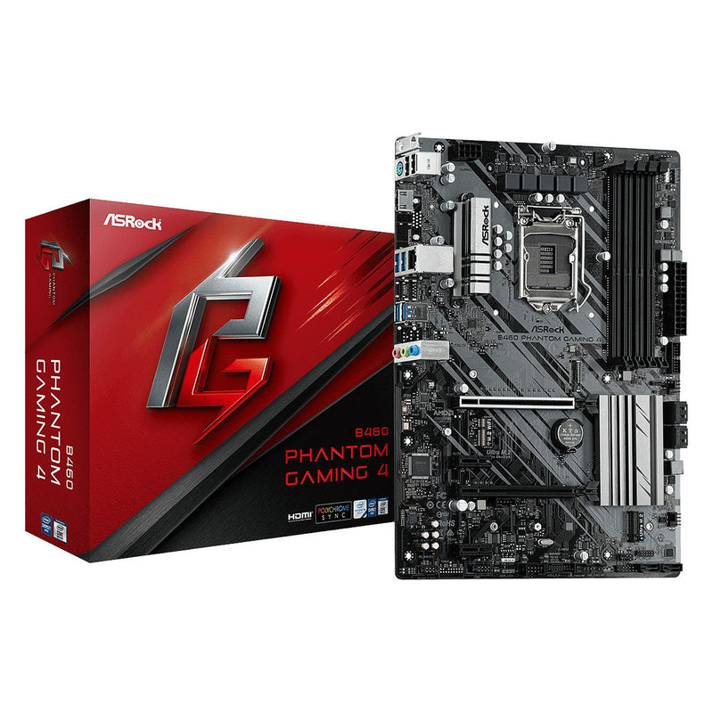 Carte Mère ASROCK B460 Phantom Gaming 4 LGA1200 ATX - KindInformatique.com Inc.
