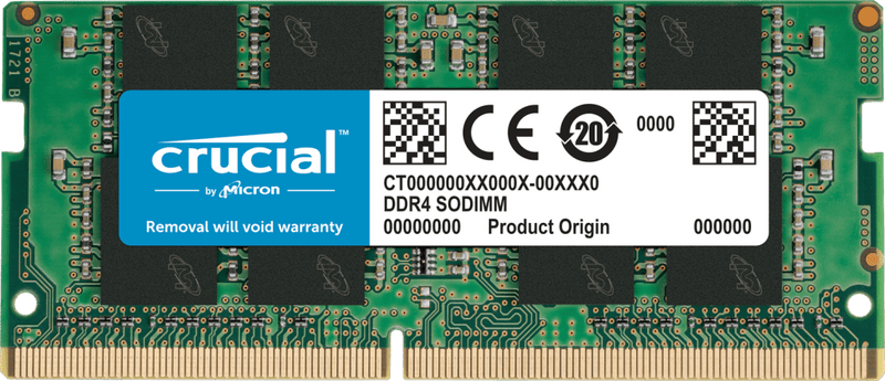 Mémoire Vive Crucial 4Gb 1x4Gb DDR4-2666Mhz 1.2v SODIMM - KindInformatique.com Inc.