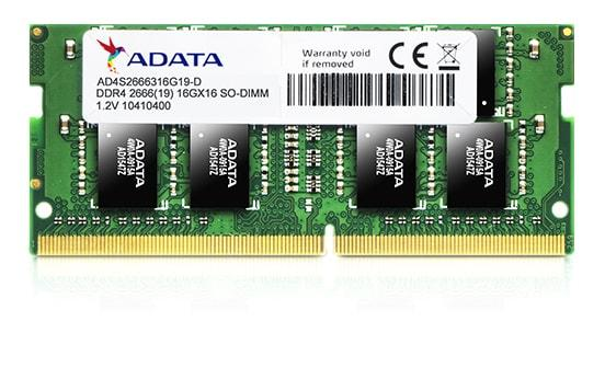 Mémoire Vive ADATA 16Gb 1x16Gb DDR4-2666Mhz 1.2v SODIMM - KindInformatique.com Inc.