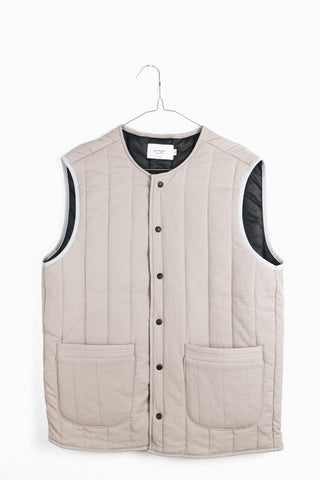 PADDED VEST IN BEIGE