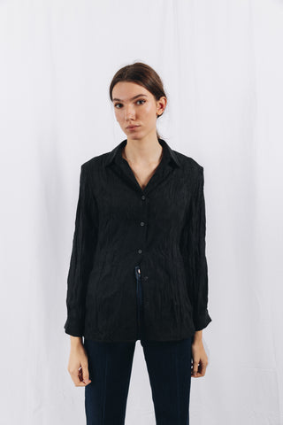 CRINKLE SHIRT IN BLACK