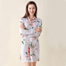Load image into Gallery viewer, Cotton Floral Sleep Shirt (6 Colors)