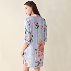 Cotton Floral Sleep Shirt (6 Colors)