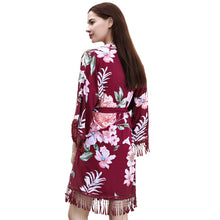 Load image into Gallery viewer, Cotton Tassel Floral Bridesmaid Robes (6 Colors)