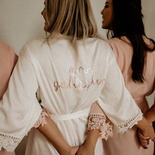 Load image into Gallery viewer, 2020 Bridesmaid Robes | Ships In 1-2 Days | Silk Robes For Bridesmaids | Bridesmaid Gifts | Custom Wedding Robes | Satin Lace Robes