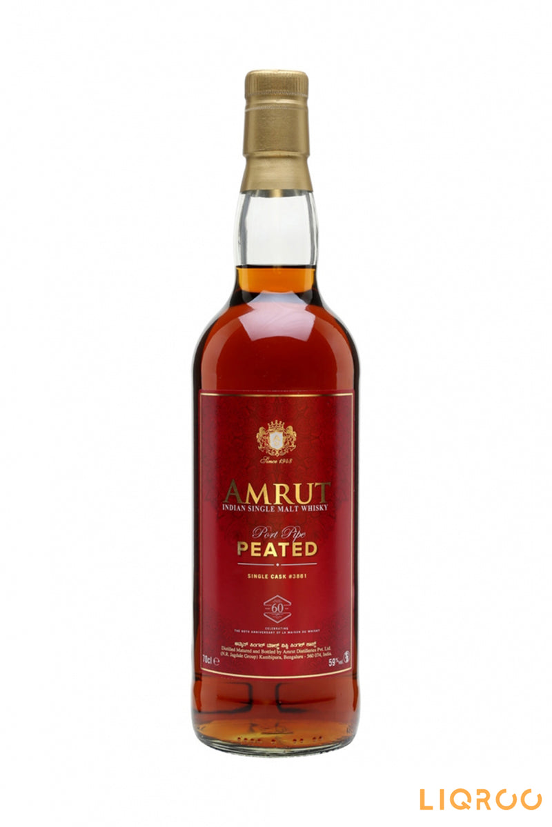 Amrut Peated Port Pipe Indian Whisky