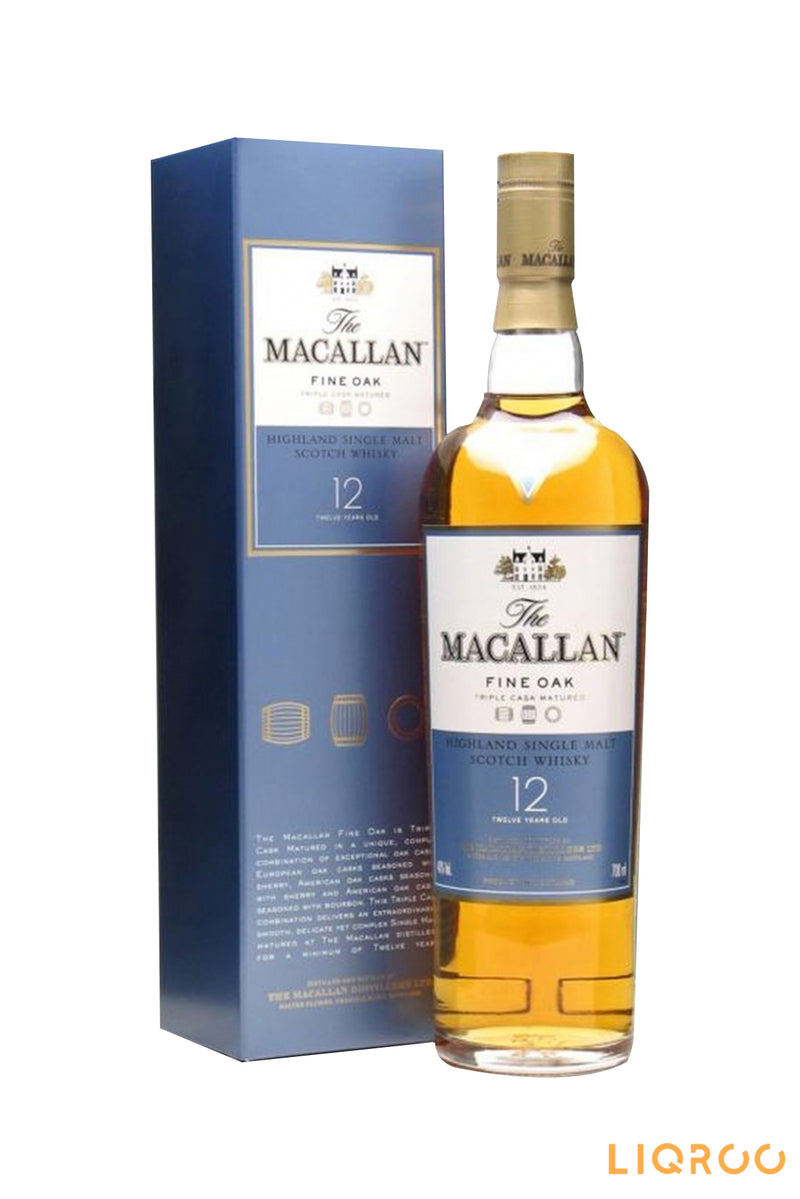 The Macallan 12 Year Old Fine Oak Single Malt Scotch Whisky