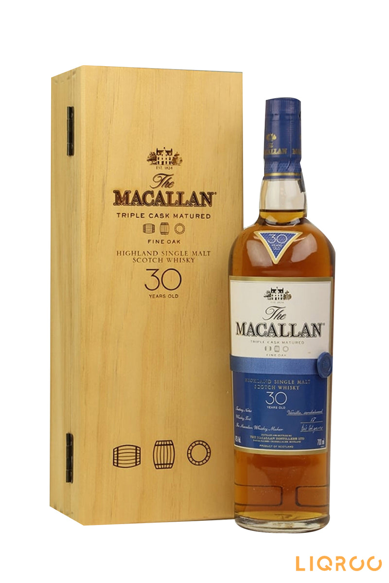 The Macallan 30 Year Old Fine Oak Single Malt Scotch Whisky