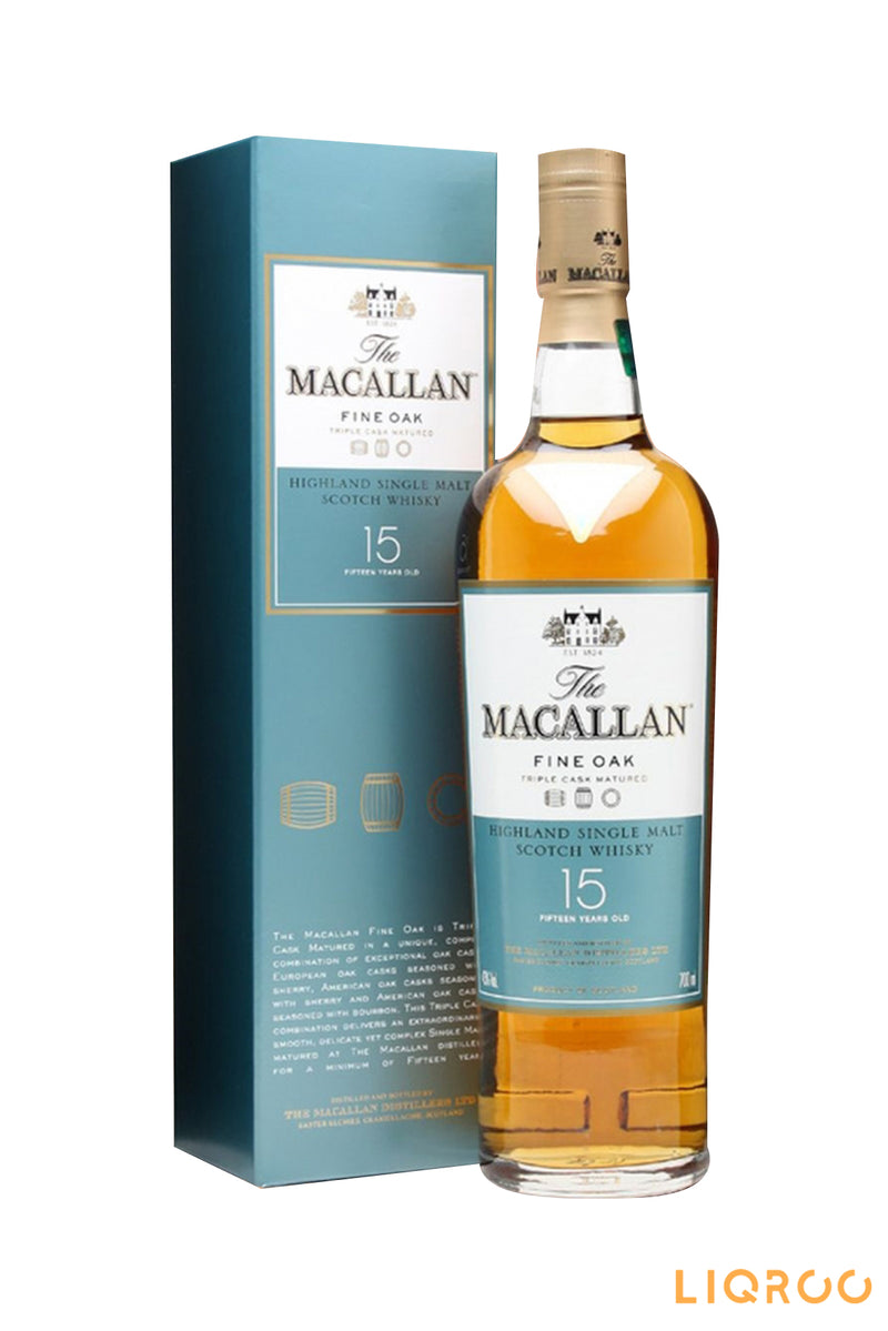 The Macallan 15 Year Old Fine Oak Single Malt Scotch Whisky