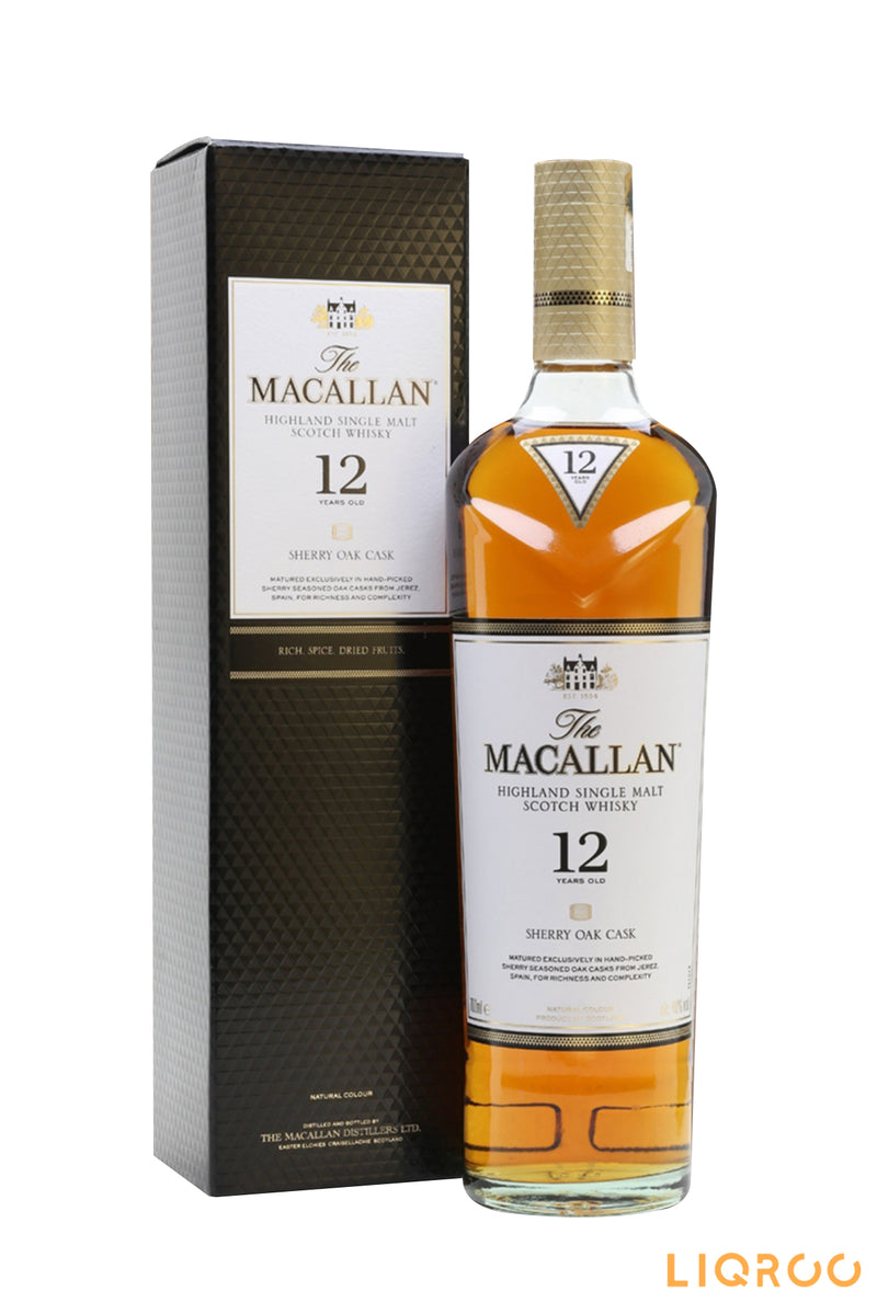 The Macallan 12 Year Old Sherry Oak Highland Single Malt Scotch Whisky
