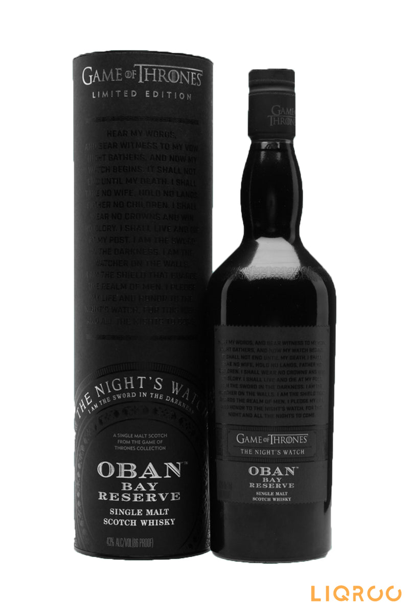 Night's Watch & Oban Bay Reserve Single Malt Scotch Whisky
