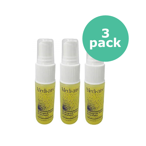 Bard Medi-Aire Biological Odor Eliminator - Lemon Scent - 1 oz (3 Pack)