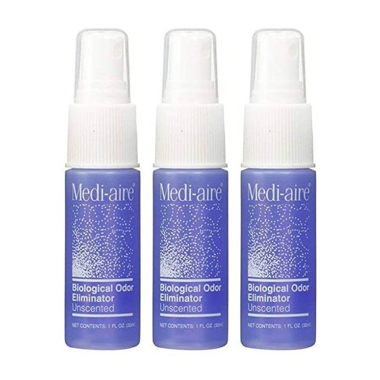 Bard Medi-Aire Biological Odor Eliminator - Unscented Spray - 1 oz (3 Pack)