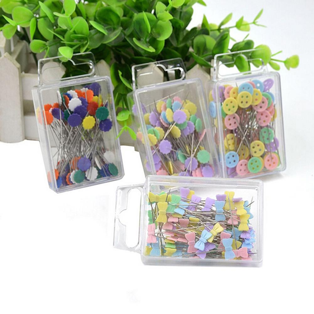 100Pcs Patchwork Craft Flower Button Head Pins Quilting Tool Sewing Accessories - M&Y CARE LLC-Healthcare Store