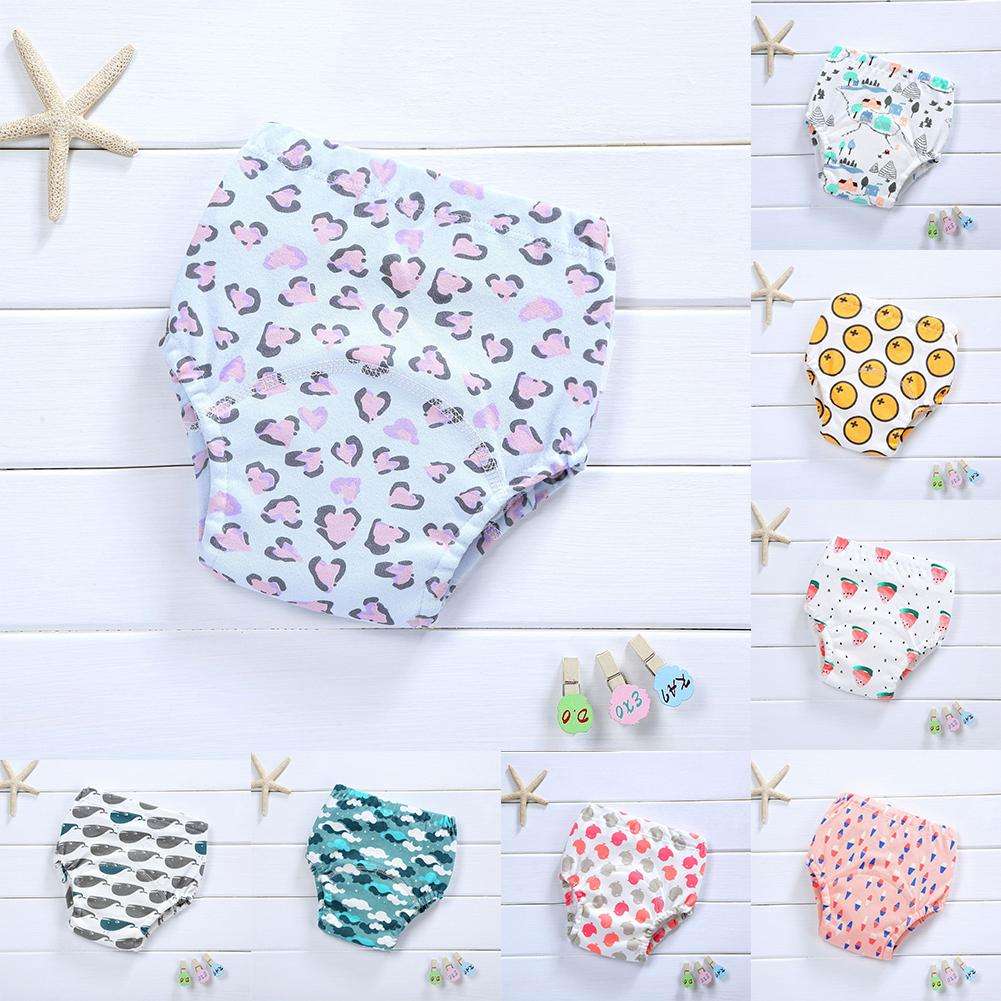 Baby Girl Boy Cotton Underwear Toilet Potty Training Cloth Diaper Nappy Pants - M&Y CARE LLC-Healthcare Store