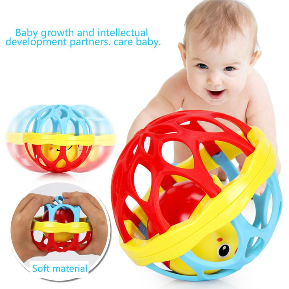 Teether Rattle Toy Baby Intelligence Grasping Gums Hand Bell Funny Birthday Gift - M&Y CARE LLC-Healthcare Store