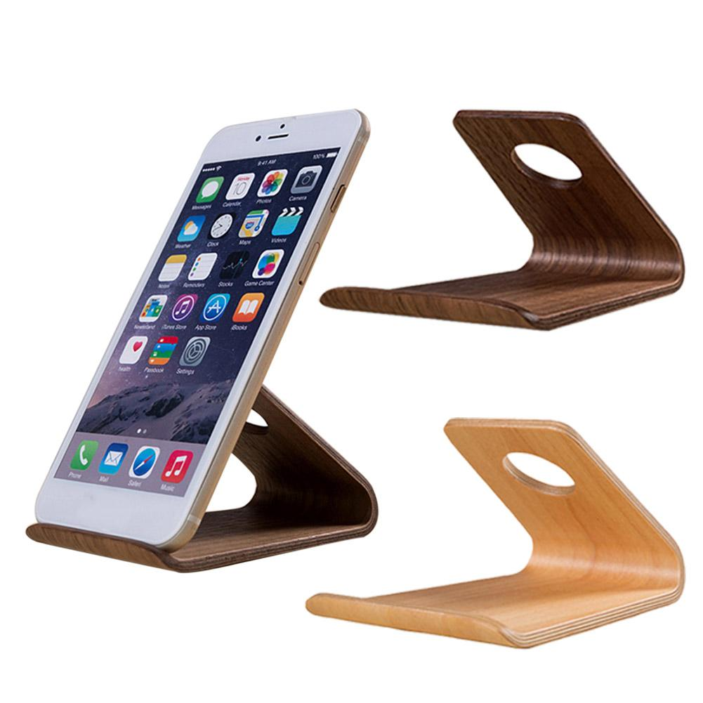 Retro Elegant Universal Home Office Desktop Wooden Mobile Phone Stand Holder - M&Y CARE LLC-Healthcare Store