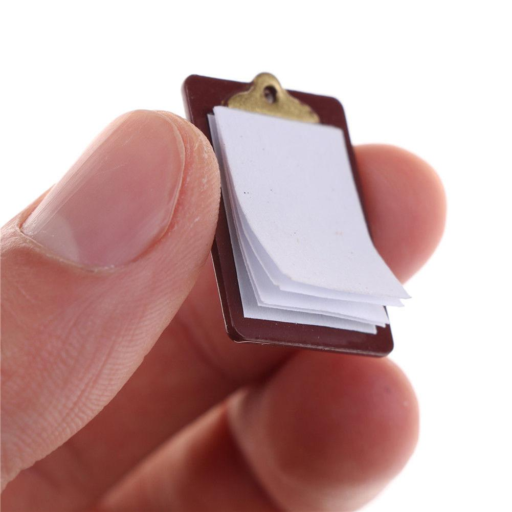 Mini Lovely Paper Clipboard Kids Dollhouse Toy House Miniature Accessories - M&Y CARE LLC-Healthcare Store