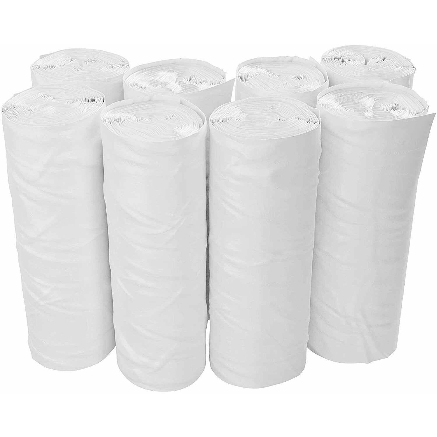 2-4 Gallon Trash Bags Small Clear Garbage Bags 2 Gal - 4 Gal - (400 Count)