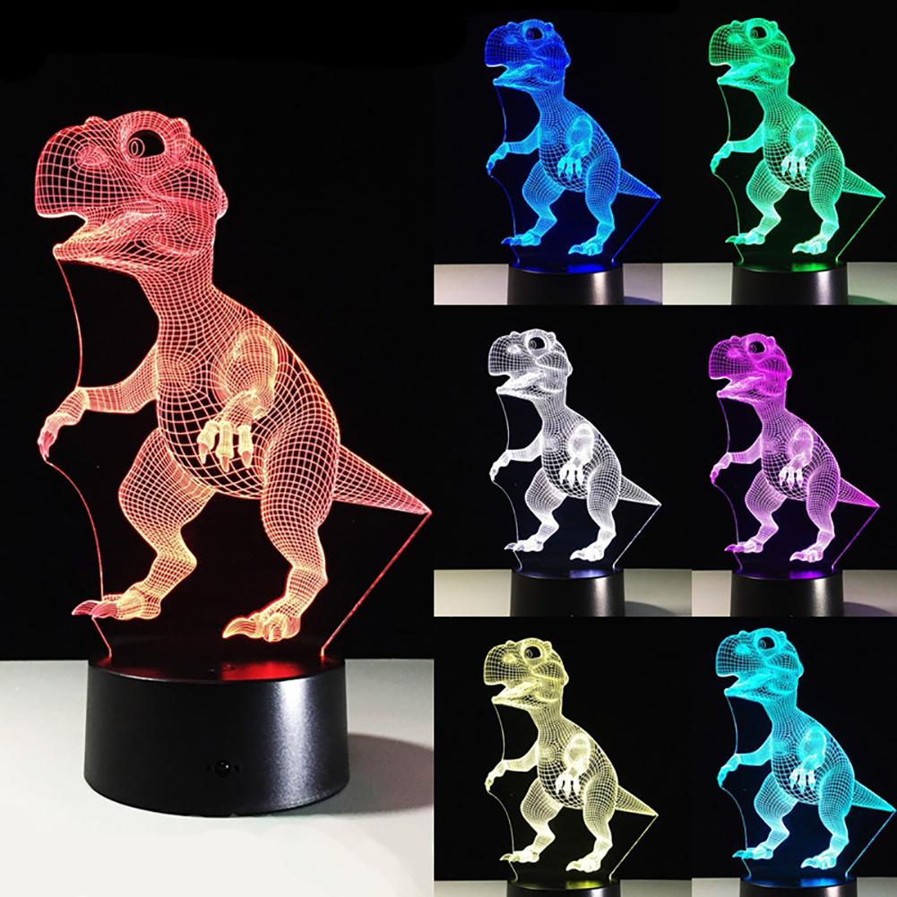 7 Color Changing LED Dinosaur Animal Touch 3D USB  Bedroom Night Light Gift - M&Y CARE LLC-Healthcare Store