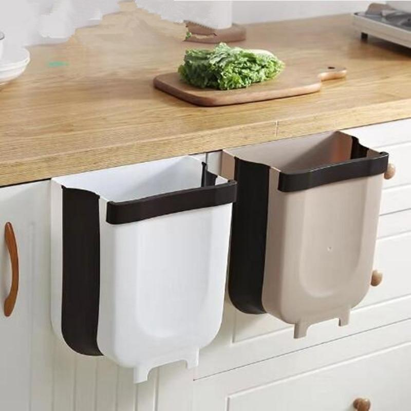 Collapsing Wall-Mount Trash Can - M&Y CARE LLC-Healthcare Store