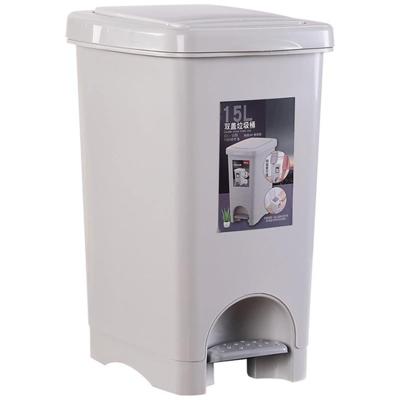 15 Liter Plastic Trash Bin with Foot Pedal - M&Y CARE LLC-Healthcare Store