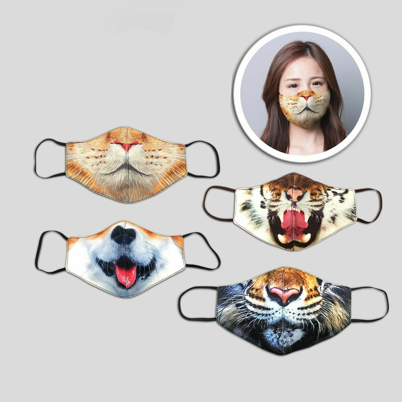 3 Layer Animal Face Masks for Kids