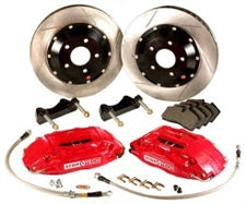 StopTech 95-99 BMW M3 w/ Red STR-40 Calipers 332x32mm Zinc Slotted Rotors Front Big Brake Kit