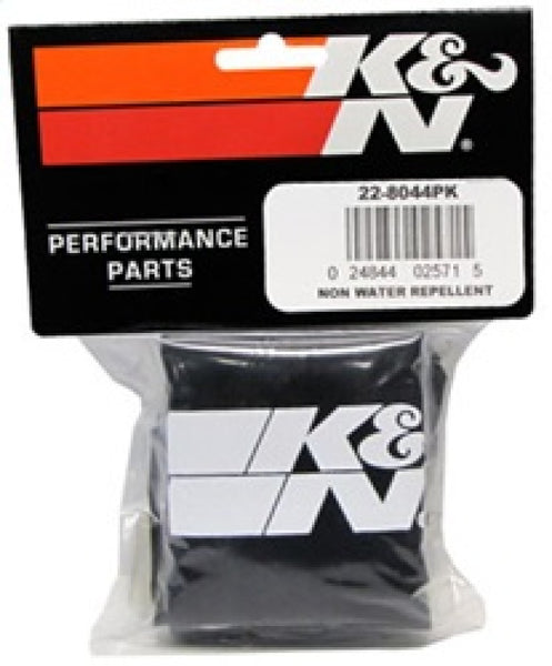 K&N Universal Precharger Round Straight Air Filter Wrap Black 5in ID x 7in Height