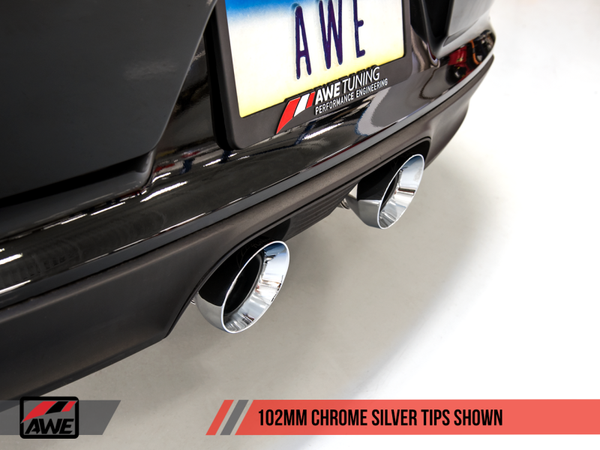 AWE Tuning Porsche 911 (991.2) Carrera / S SwitchPath Exhaust for PSE Cars - Chrome Silver Tips