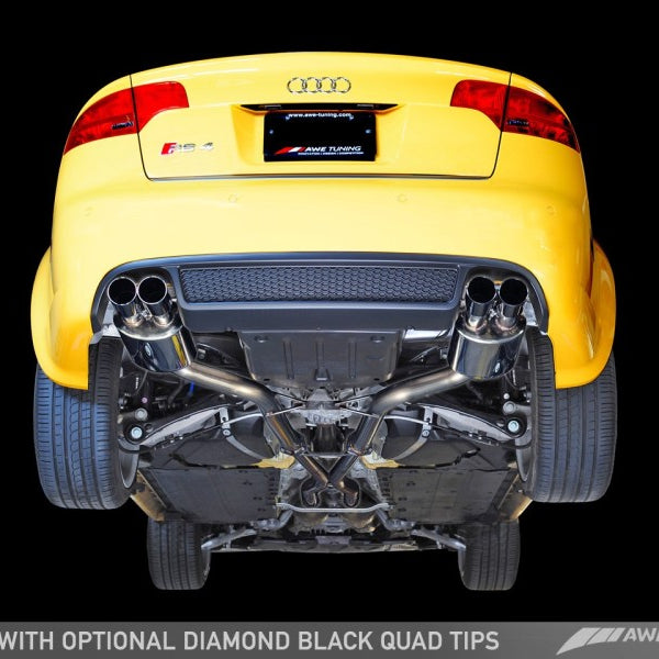 AWE Tuning Audi B7 RS4 Touring Edition Exhaust - Polished Silver Tips