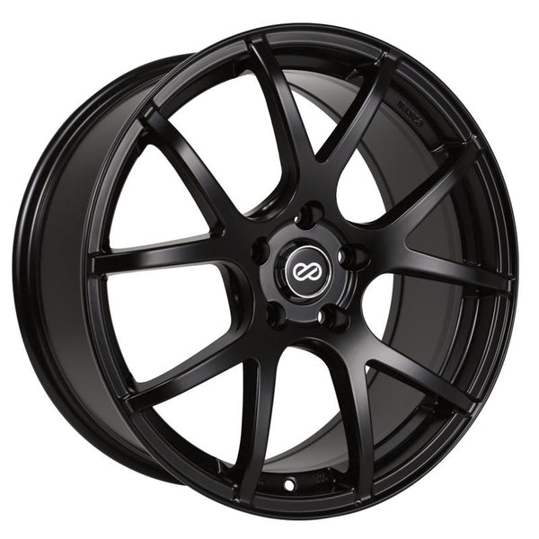 Enkei M52 17x7.5 38mm Offset 5x108 Bolt Pattern 72.6mm Bore Dia Matte Black Wheel