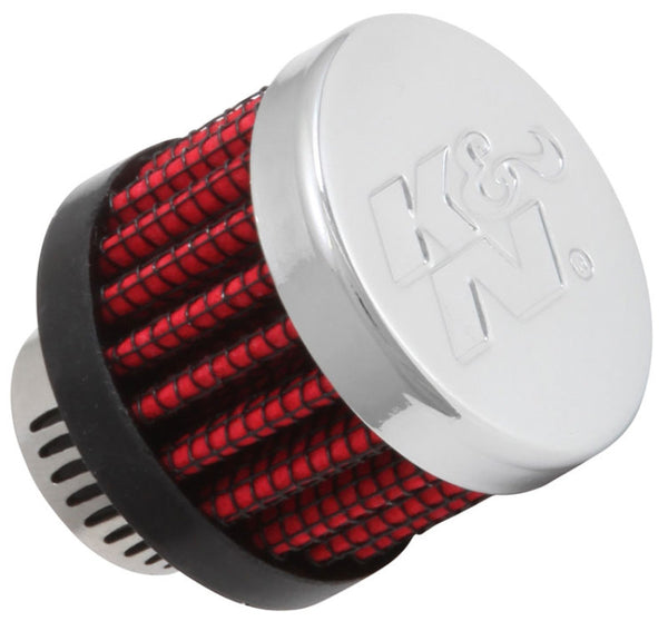 K&N Rubber Base Crankcase Vent Filter - 0.55in Flange ID 1.375in OD 1.125in Height