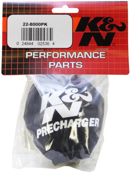 K&N Universal Precharger Air Filter Wrap - Round Straight - Black - 11in ID x 2in H