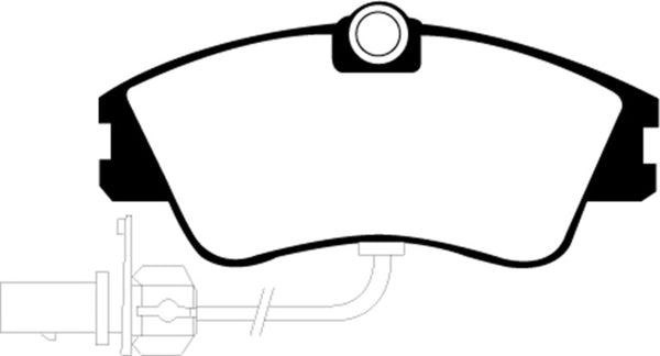 EBC 00 Volkswagen Eurovan 2.8 (Lucas) with Wear Leads Greenstuff Front Brake Pads