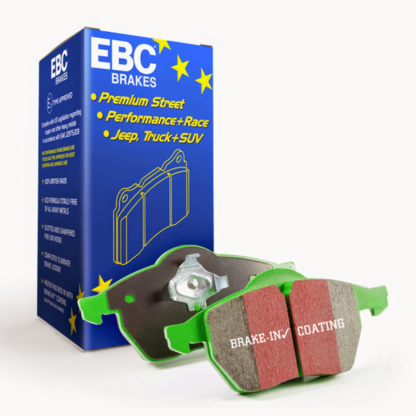 EBC 13+ Mercedes-Benz CLA250 2.0 Turbo Greenstuff Front Brake Pads