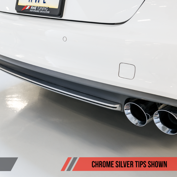 AWE Tuning Audi C7 / C7.5 S6 4.0T Touring Edition Exhaust - Polished Silver Tips