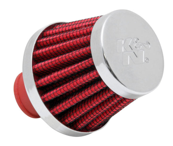 K&N 2in Base OD x .375in Flange ID x 1.75in H Rubber Base Crankcase Vent Filter