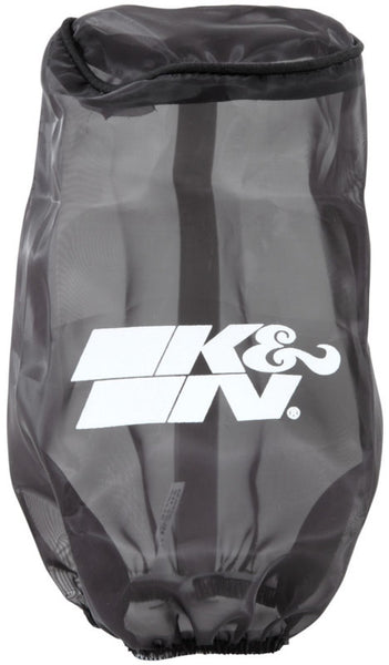 K&N Filter Wrap Drycharger Oval Tapered Black - 3.25in Base I/S Width x 2.5in Top I/S Width x 7in H