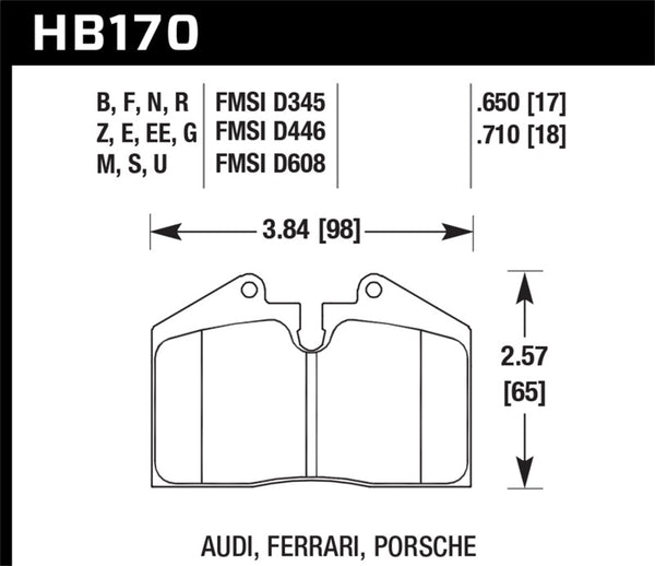 Hawk 93-95 Porsche 968 / 85-91 944 / 87-89 911 DTC-70 Front Race Brake Pads