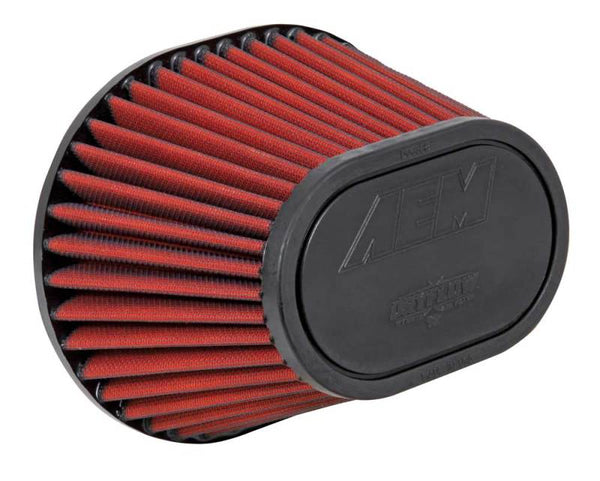 AEM Dryflow Air Filter - 3.5in FLG / 8-1/2in L x 7in W / Top 6-1/4in L x 4in W / 5-1/2in H (S/O)