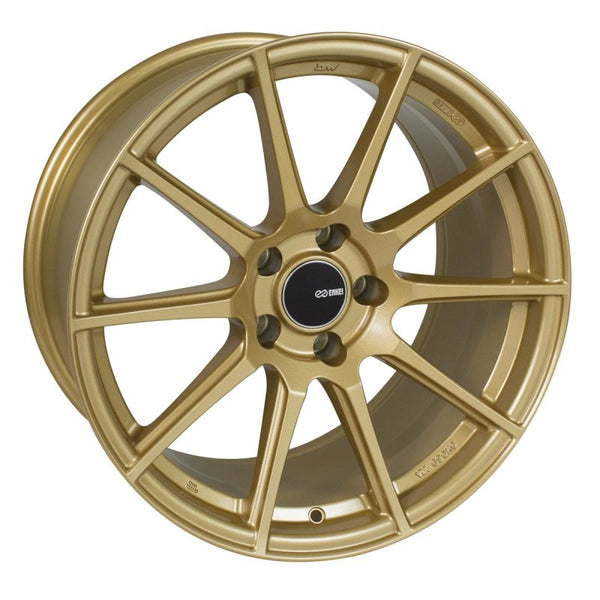 Enkei TS10 17x8 5x100 45mm Offset 72.6mm Bore Gold Wheel