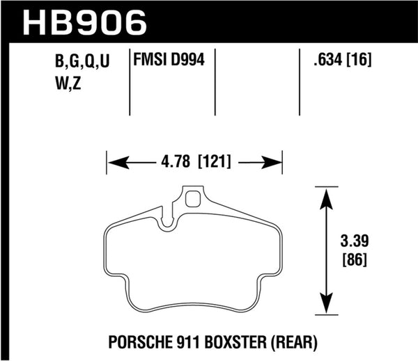 Hawk 02-10 Porsche 911 HP+ Street Rear Brake Pads