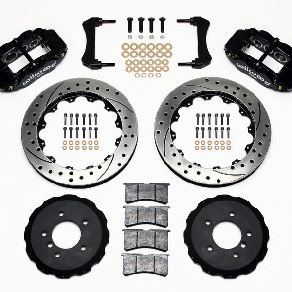 Wilwood Narrow Superlite 6R Front Hat Kit 13.06in Drilled E36 BMW M3